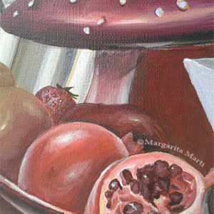 Cornucopia_detail1 margarita marti red painting